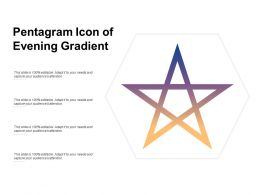 Pentagram Icon Of Evening Gradient