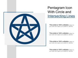 Pentagram Icon With Circle And Intersecting Lines