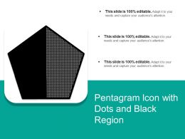 Pentagram Icon With Dots And Black Region