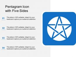 Pentagram Icon With Five Sides