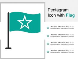 Pentagram Icon With Flag