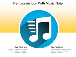 Pentagram Icon With Music Note