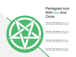 Pentagram Icon With Star And Circle