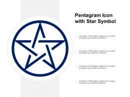 Pentagram Icon With Star Symbol