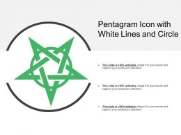 Pentagram Icon With White Lines And Circle