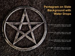 Pentagram On Slate Background With Water Drops