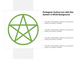 Pentagram Outline Icon With Star Symbol In White Background