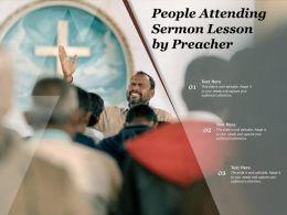 People Attending Sermon Lesson By Preacher