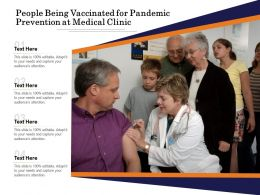 People Being Vaccinated For Pandemic Prevention At Medical Clinic