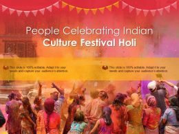 People Celebrating Indian Culture Festival Holi
