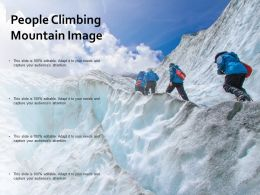 People Climbing Mountain Image
