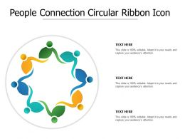 People Connection Circular Ribbon Icon