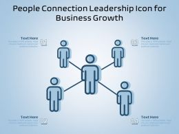 People Connection Leadership Icon For Business Growth