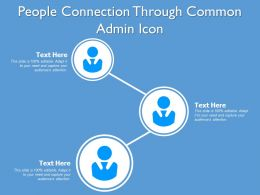 People Connection Through Common Admin Icon