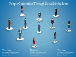 People Connection Through Social Media Icon