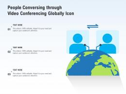 People Conversing Through Video Conferencing Globally Icon