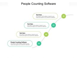 People Counting Software Ppt Powerpoint Presentation Layouts Example Introduction Cpb