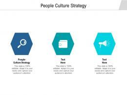 People Culture Strategy Ppt Powerpoint Presentation Outline Slide Portrait Cpb