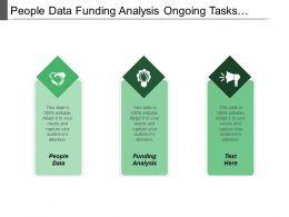 People Data Funding Analysis Ongoing Tasks Leadership Team