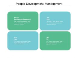 People Development Management Ppt Powerpoint Presentation Inspiration Slide Cpb