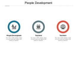 People Development Ppt Powerpoint Presentation Show Background Cpb