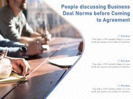 People Discussing Business Deal Norms Before Coming To Agreement