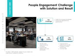People Engagement Challenge With Solution And Result