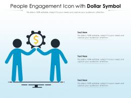 People Engagement Icon With Dollar Symbol