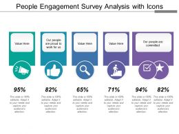People Engagement Survey Analysis With Icons