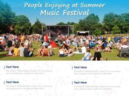 People Enjoying At Summer Music Festival