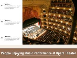 People Enjoying Music Performance At Opera Theater