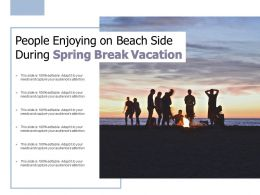 People Enjoying On Beach Side During Spring Break Vacation