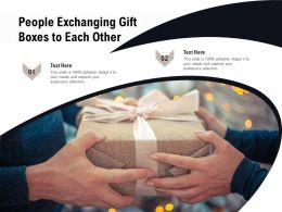 People Exchanging Gift Boxes To Each Other