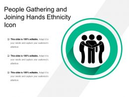 People Gathering And Joining Hands Ethnicity Icon