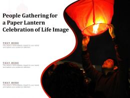 People Gathering For A Paper Lantern Celebration Of Life Image
