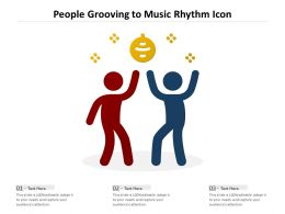 People Grooving To Music Rhythm Icon