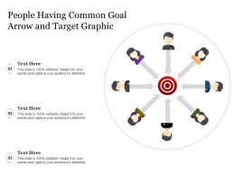 People Having Common Goal Arrow And Target Graphic