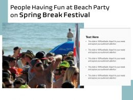 People Having Fun At Beach Party On Spring Break Festival