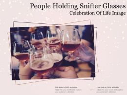 People Holding Snifter Glasses Celebration Of Life Image