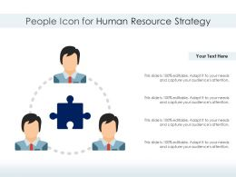 People Icon For Human Resource Strategy