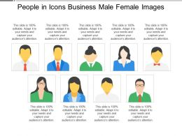 People In Icons Business Male Female Images