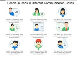 People In Icons In Different Communication Boxes