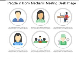 People In Icons Mechanic Meeting Desk Image