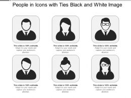 People In Icons With Ties Black And White Image