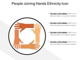 People Joining Hands Ethnicity Icon