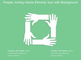 People Joining Hands Ethnicity Icon With Background