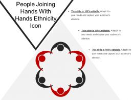 People Joining Hands With Hands Ethnicity Icon