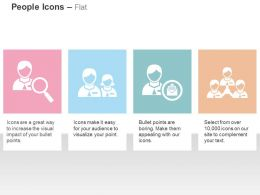 People Magnifier Team Networking Communication Ppt Icons Graphics