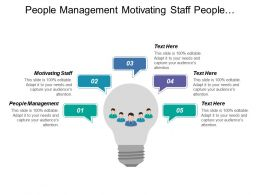 People Management Motivating Staff People Performance Achieving Results