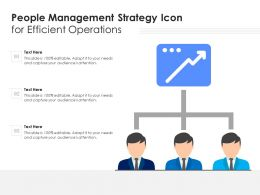 People Management Strategy Icon For Efficient Operations